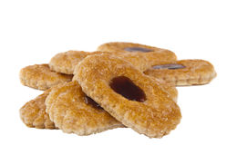Sweet cookies with jam Stock Image