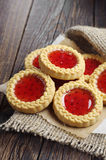 Sweet cookies with jam Stock Images