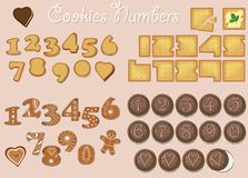 Sweet Cookies Numerals stock image