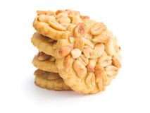 Sweet cookies with peanuts. Royalty Free Stock Photo