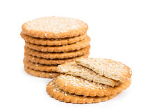 Sweet cookies with sesame seeds Stock Photos