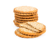 Sweet cookies with sesame seeds Royalty Free Stock Photography