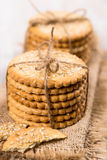 Sweet cookies with sesame seeds Stock Image