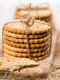 Sweet cookies with sesame seeds Royalty Free Stock Image