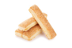 Sweet cookies in the shape of sticks Royalty Free Stock Photo