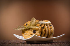 Sweet cookies tied with ribbon Stock Photo