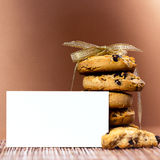 Sweet cookies tied with ribbon Royalty Free Stock Photos