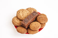 Sweet cookies to tea and coffee Stock Images