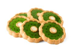 Sweet cookies on white Royalty Free Stock Image