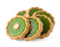 Sweet cookies on white Stock Photography