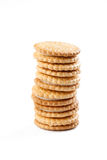 Sweet cookies on white background Stock Photography