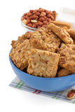 Sweet cookies on white Royalty Free Stock Photo