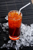 Sweet cooled drink with ice Royalty Free Stock Images