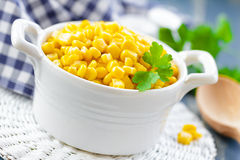 Sweet corn. In a bowl Stock Photos
