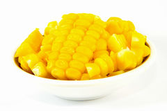 Sweet corn boil ready for eat. Isolated royalty free stock photo