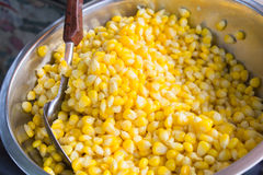 Sweet Corn with Butter in a bowl. Stock Photography