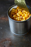Sweet corn in can Royalty Free Stock Images