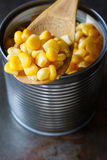 Sweet corn in can Stock Photos