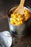 Sweet corn in can Stock Photos