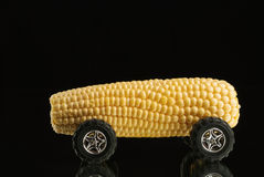 Sweet Corn Car on Mirror Stock Images