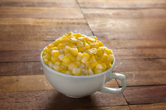 Sweet corn in a cup Royalty Free Stock Photo