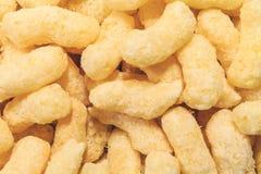 Sweet corn flakes, breakfast ready closeup. royalty free stock photo