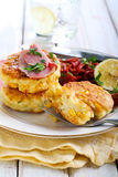 Sweet corn fried cakes Stock Photography