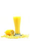 Sweet corn juice corn milk Royalty Free Stock Images