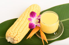 Sweet corn juice. Royalty Free Stock Image
