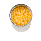 Sweet Corn In With Open Lid Tin Can IV Stock Images