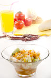 Sweet corn and spring onion relish Stock Photography