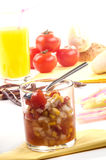 Sweet corn and tomato relish Stock Photography