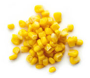 Sweet corn  on white from above Stock Photos