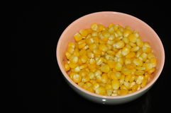 Sweet corns in the bowl Stock Photography