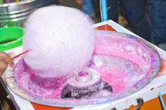 Sweet cotton candy. In machine Stock Photo