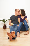 Sweet couple at home Royalty Free Stock Images