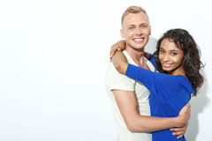 Sweet couple isolated on white Royalty Free Stock Images