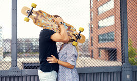 Sweet couple kissing. And caressing each other Stock Photo