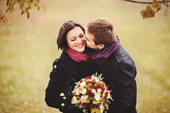 Sweet couple kissing. Love Royalty Free Stock Photos