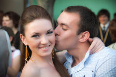 Sweet couple in love. A portrait of a sweet couple in love Stock Photos