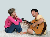 Sweet couple in love Royalty Free Stock Photos