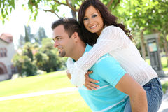 Sweet couple in love Stock Photos