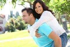 Sweet couple in love stock photos