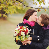 Sweet couple in love having date Stock Photography