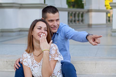 Sweet couple Royalty Free Stock Image