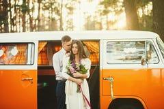 Sweet couple at sunset Stock Photo