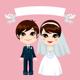 Sweet Couple Wedding Royalty Free Stock Photography