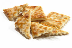 Sweet crackers. Some appetizing and tasty triangular sweet crackers Royalty Free Stock Image