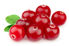 Sweet cranberries with leafs Royalty Free Stock Photo
