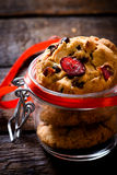 Sweet cranberry cookies Royalty Free Stock Photo